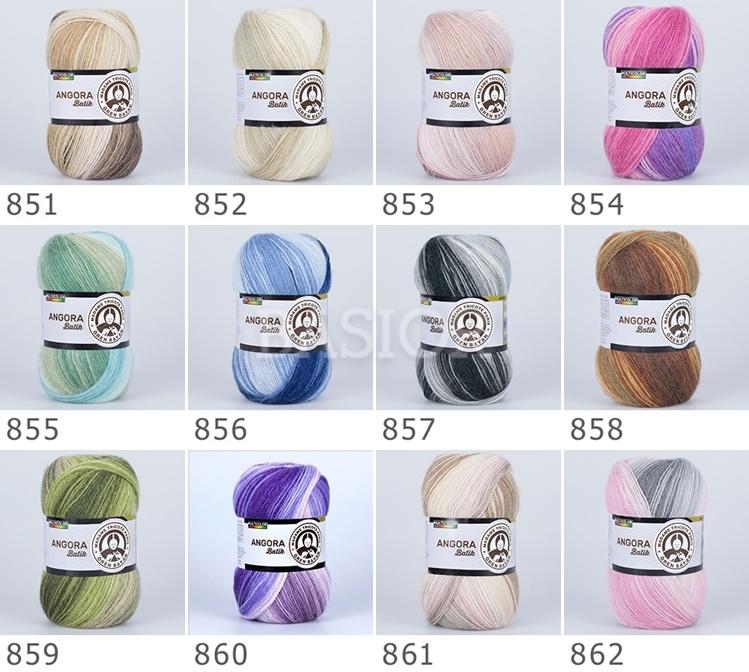 wzornik!!! kolorów Angora Batik