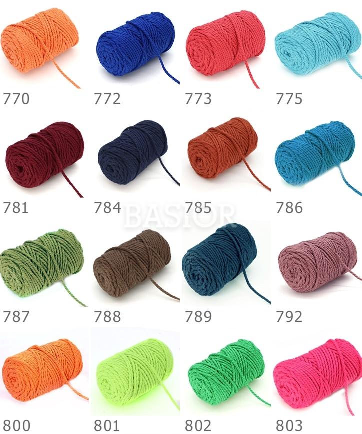 wzornik kolorów macrame rope 3