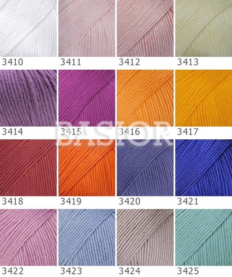 wzornik kolorów gazzal baby cotton xl a