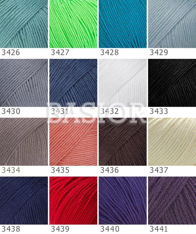 wzornik kolorów gazzal baby cotton xl b